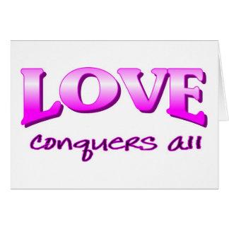 El amor conquista todo el decir cristiano felicitacion