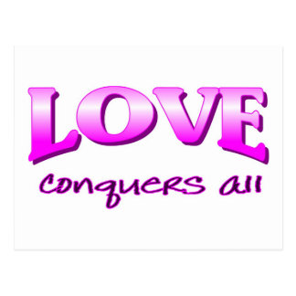 El amor conquista todo el decir cristiano tarjetas postales