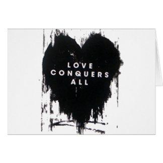 El amor conquista todos tarjeta