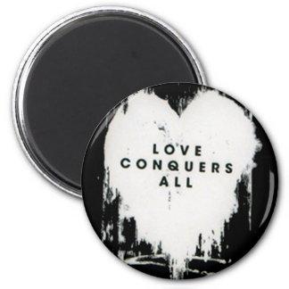 El amor conquista todos iman de nevera