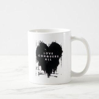 El amor conquista todos taza de café