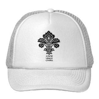 El amor conquista todos (negro-blanco) gorras de camionero