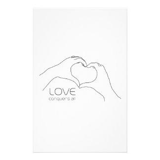 El amor conquista todos papeleria de diseño