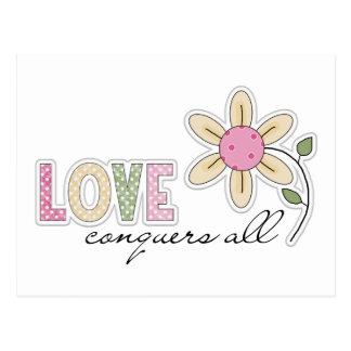 El amor conquista todos postales