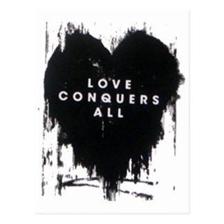 El amor conquista todos tarjeta postal