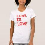 El amor correcto humanos de la igualdad del matrim camiseta