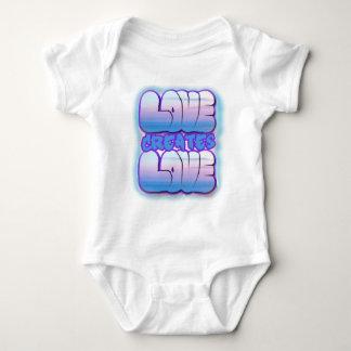 El amor crea el amor - onesee del bebé body para bebé