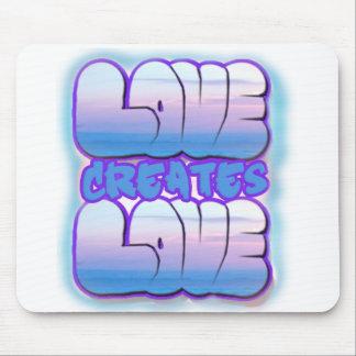 El amor crea el mousepad lindo del regalo del amor