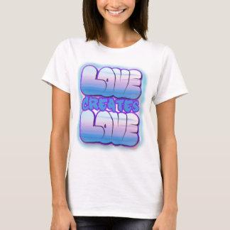 El amor crea las camisetas lindas del amor para