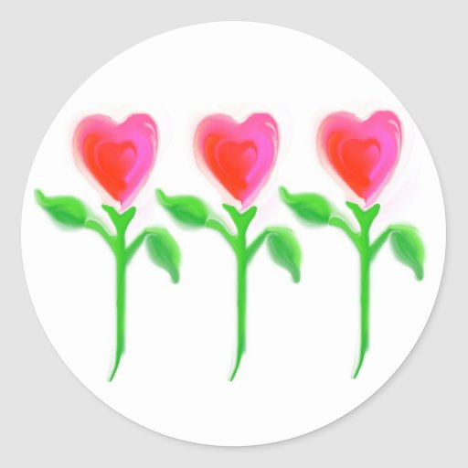 El amor crece al pegatina