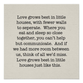 El amor crece el poster póster