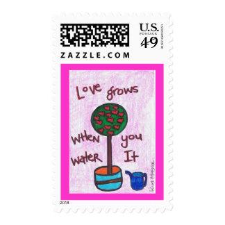 El amor crece el sello