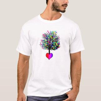 El amor crece en los árboles - corazones del arco playera