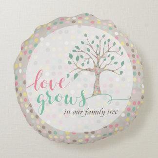 El amor crece en nuestra decoración del cuarto de cojín redondo