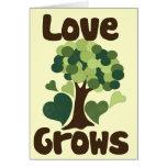 El amor crece felicitaciones