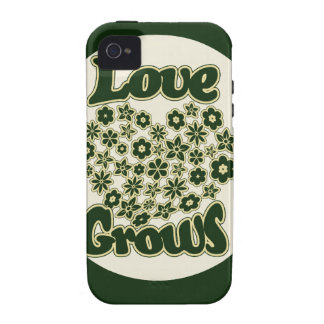 El amor crece iPhone 4/4S funda