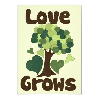 """El amor crece invitación 5"""" x 7"""""""