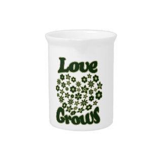 El amor crece jarron