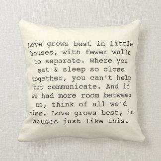 El amor crece las almohadas cojín decorativo
