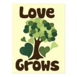 El amor crece postal