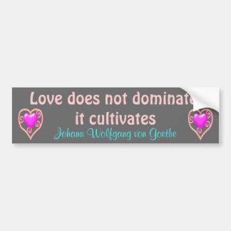 el amor cultiva a la pegatina para el parachoques pegatina para auto