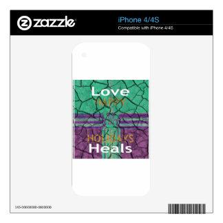 El amor cura iPhone 4 skin