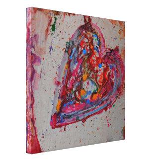 """el """"amor cura"""" la lona abstracta impresion de lienzo"""
