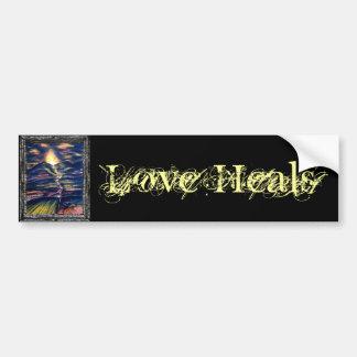 El amor cura pegatina para auto