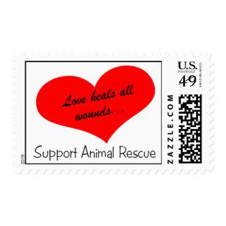 El amor cura todas las heridas timbre postal