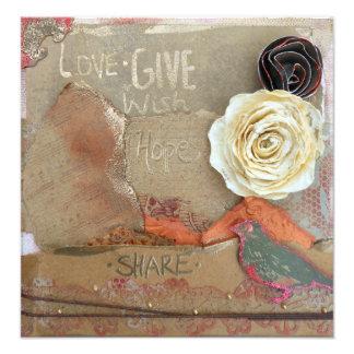 El amor, da, espera, impresión de la foto de las fotografías