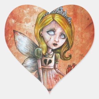 El amor daña a la princesa oscura de los Undead de Pegatina En Forma De Corazón