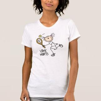 El amor daña la camiseta poleras