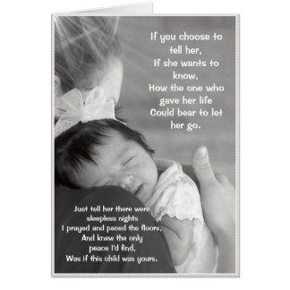 El amor de amba madre (adoptivo y Birthmom) Tarjetón