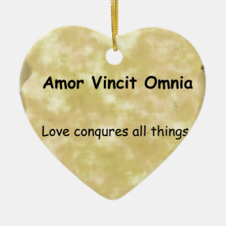 El AMOR de Amor Vincit Omnia del latín CONQUISTA T Adornos De Navidad