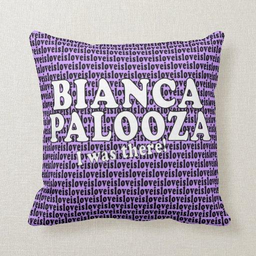 El amor de Biancapalooza es almohada del amor