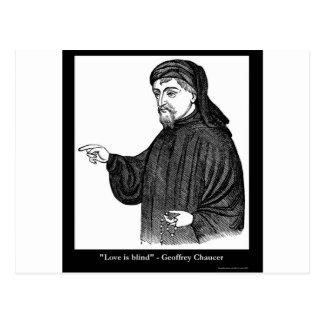 ¡El amor de Chaucer es regalos de las camisetas de Tarjetas Postales