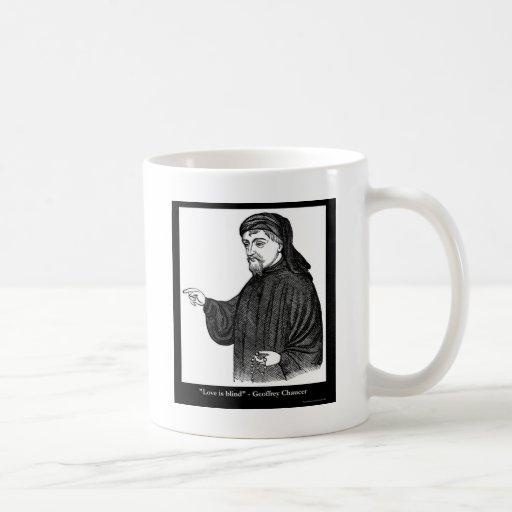 ¡El amor de Chaucer es regalos de las camisetas de Taza De Café