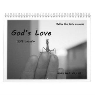 El amor de dios - $1,00 va a la fundación de los n calendario