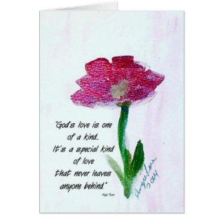 El amor de dios es… tarjeta de nota en blanco