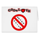 El amor de dios nunca falla felicitacion