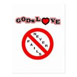 El amor de dios nunca falla postal