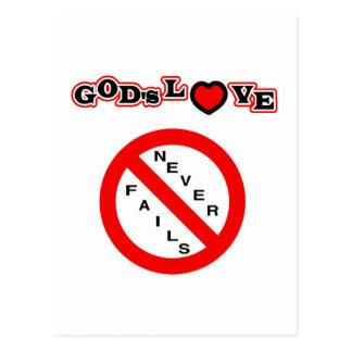 El amor de dios nunca falla tarjetas postales