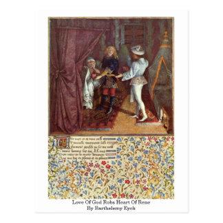El amor de dios roba el corazón de Rene de Barthel Tarjetas Postales