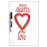 el amor de dos corazones uno pizarra