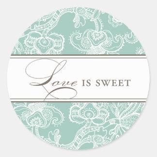 El amor de encaje es pegatina dulce