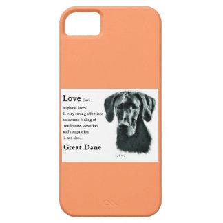 El amor de great dane es iPhone 5 Case-Mate protectores