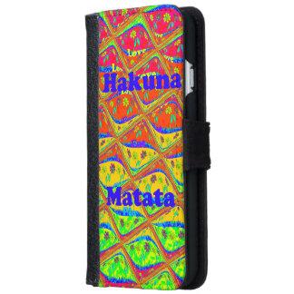 El amor de Hakuna Matata come la caja de la Funda Cartera Para iPhone 6