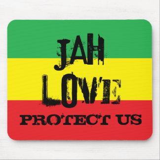 El amor de Jah nos protege MousePad