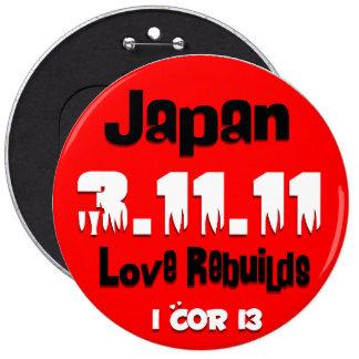 El amor de Japón reconstruye el botón Pins