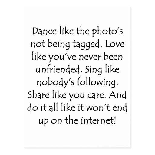El amor de la danza canta la parte postal
